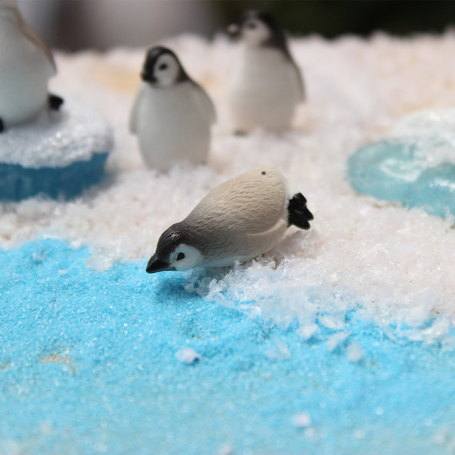 BAIUFOR DIY Mini Penguin Iceberg Seal Model, Winter Figure, Miniature Figurine Toy for Children Gift Birthday Home Decoration 6