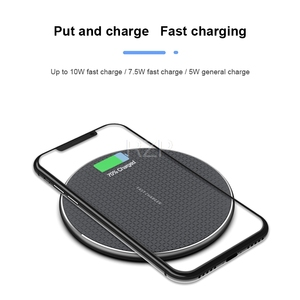 Image 2 - RZP Fast Wireless Charger For Apple iPhone Xs Max XR 8 Plus Samsung S8 S9 S10 Plus Note 9 10 Phone Charger Qi Wireless Charger