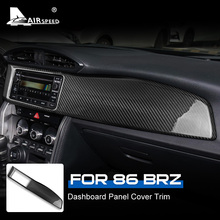 غطاء لوحة القيادة من ألياف الكربون AIRSPEED ، ملصق ، لسيارة Subaru BRZ Toyota 86 2017 2020 ، ملحقات تزيين السيارة