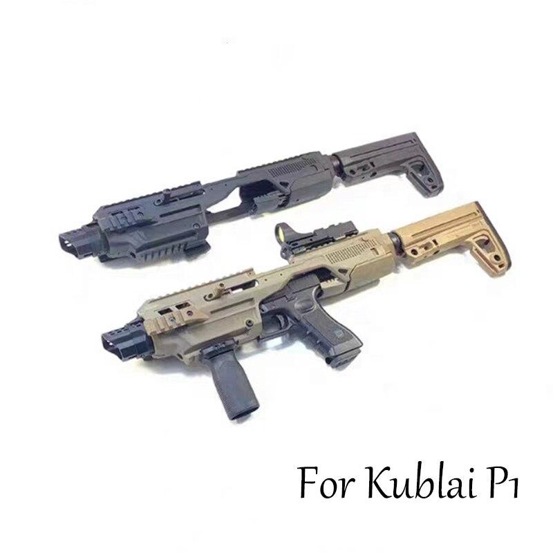 Kublai P1 Carbine Kit Water Bullet Gun Gel Blaster Modified Nylon Backstock Fitting Hanging Rucksack Chicken Model