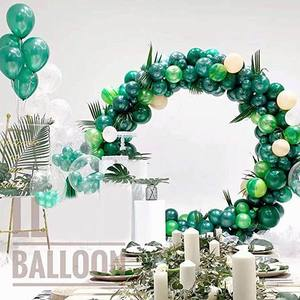 Image 3 - Jungle Safari Theme Party Supplies Green Balloons Garland Arch Kit Birthday Baby Shower Forest Party Christmas Decorations