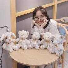New 1PC Soft Hairy Elephant&Sheep&Rabbit Plush Toy Cartoon Animal Bear&Dog Stuffed Doll Baby Sleeping Toys Kids Birthday Gifts