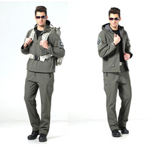 Softshell Shark Skin Tactical Military Uniform WaterProof Hunting Jacket+Pants Combat Camouflage Clothes Army Uniform For Men цена 2017