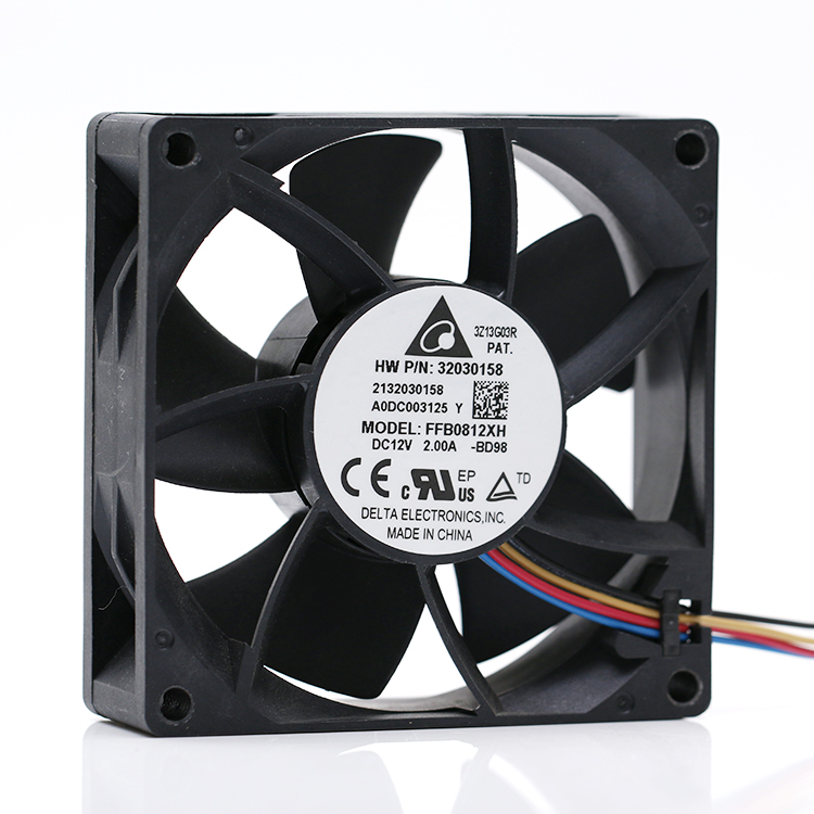 Delta Ffb0812xh 8025 12V 2A 80mm 8cm  High Speed Large Air Volume Forced Pressure Cooling Fan