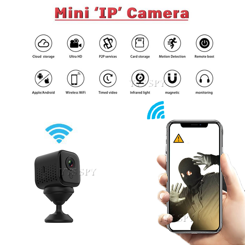New <font><b>Mini</b></font> <font><b>Wifi</b></font> <font><b>Camera</b></font> 1080P Gizli Action IP Video Kamera Wireless Night Vision Small Body Micro Camaras Support Hidden SD Card image