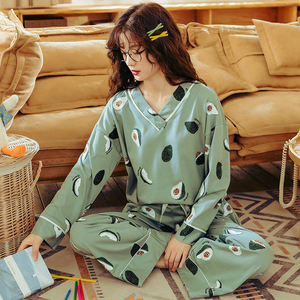 Image 2 - BZEL Womens Pajamas Sets Plus Size Femme Nighty Casual Homewear Loungewear Cotton Sleepwear Cartoon V Neck Pijama Pyjamas M 3XL