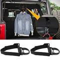 2Pcs Roll Bar Kleiderbügel Kleidung Haken für Jeep Wrangler CJ YJ TJ LJ JK JKU JL JLU JT sport Sahara Freiheit Rubicon und Unlimite-in Regale aus Kraftfahrzeuge und Motorräder bei