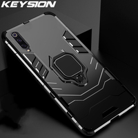 KEYSION custodia per armatura antiurto per Xiaomi Mi A3 A3 Lite CC9e Mi 9T Pro 9 SE F1 supporto per anello Cover per telefono per redmi note 7 7A 5 6 pro
