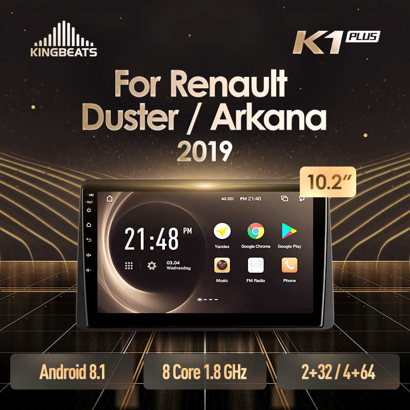 KingBeats Android 8.1 unità di testa 4G in Dash Car Radio Multimedia Video Player di Navigazione GPS Per Renault Duster Arkana 2019
