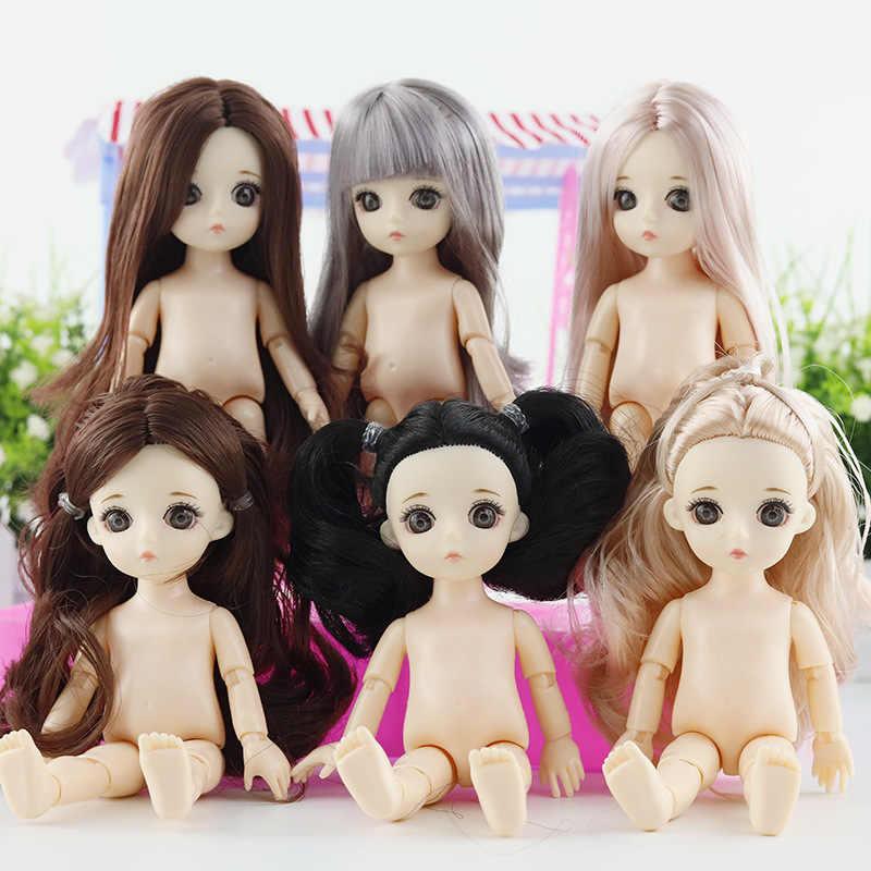 13 móvel Articulado 15 centímetros 1/12 BJD Bonecas Brinquedos Do Bebê BJD Boneca Nua Mulheres Nuas Corpo Fashion Dolls Brinquedos para presente meninas de Pele Normal