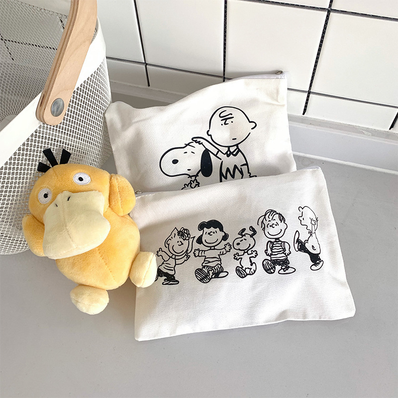 Cartoon Animal Dog Cosmetic Bag Make Up Case Wash Organizer Toiletry Makeup Travel Storage Bags Girl Beauty Women Bath Pouch