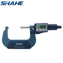 Shahe 50-75mm 0.001mm elektroniczny zewnętrzny mikrometr z opakowanie detaliczne mikrometr zewnętrzny mikrometr 50-75mm
