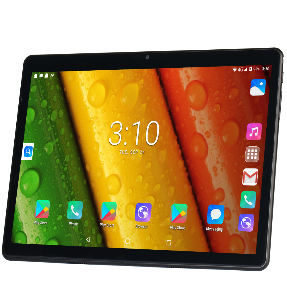 10.1 Inch Tablet Pc Android 7.0 Google Play 3G Phone Call Tablets Dual SIM Cards WiFi GPS Bluetooth 2.5D Toughened Glass Screen