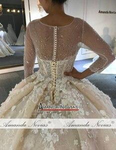 Image 5 - Свадебное платье 2020, новый дизайн, Настоящее рабочее свадебное платье 100%, Настоящее рабочее свадебное платье высокого качества