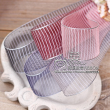 100yards 10 16 25 38mm white horizontal stripes organza sheer ribbon for hair bow accessories bouquet flower gift packing bow velvet with glass ring earrings necklace bracelets jewelry display organizer box tray holder storage carrying cases tools