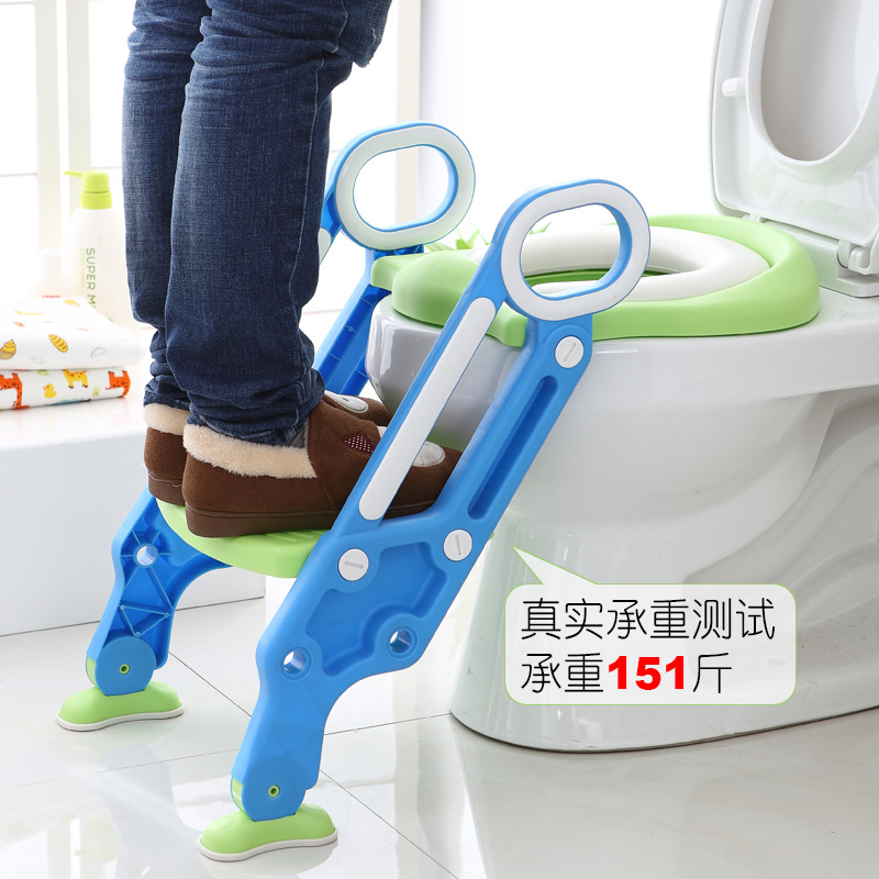 Toilet For Kids Women's GIRL'S Kids Boy Sit Toilet Baby Washer Ti Yi Foldable Staircase Style Ma Tong Jia