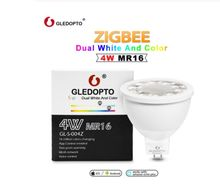 Zigbee Voice control RGBW 4W MR16 smart LED bulb DC12V LED RGB+CCT spotlight color and white LED lamp work with echo plus hub