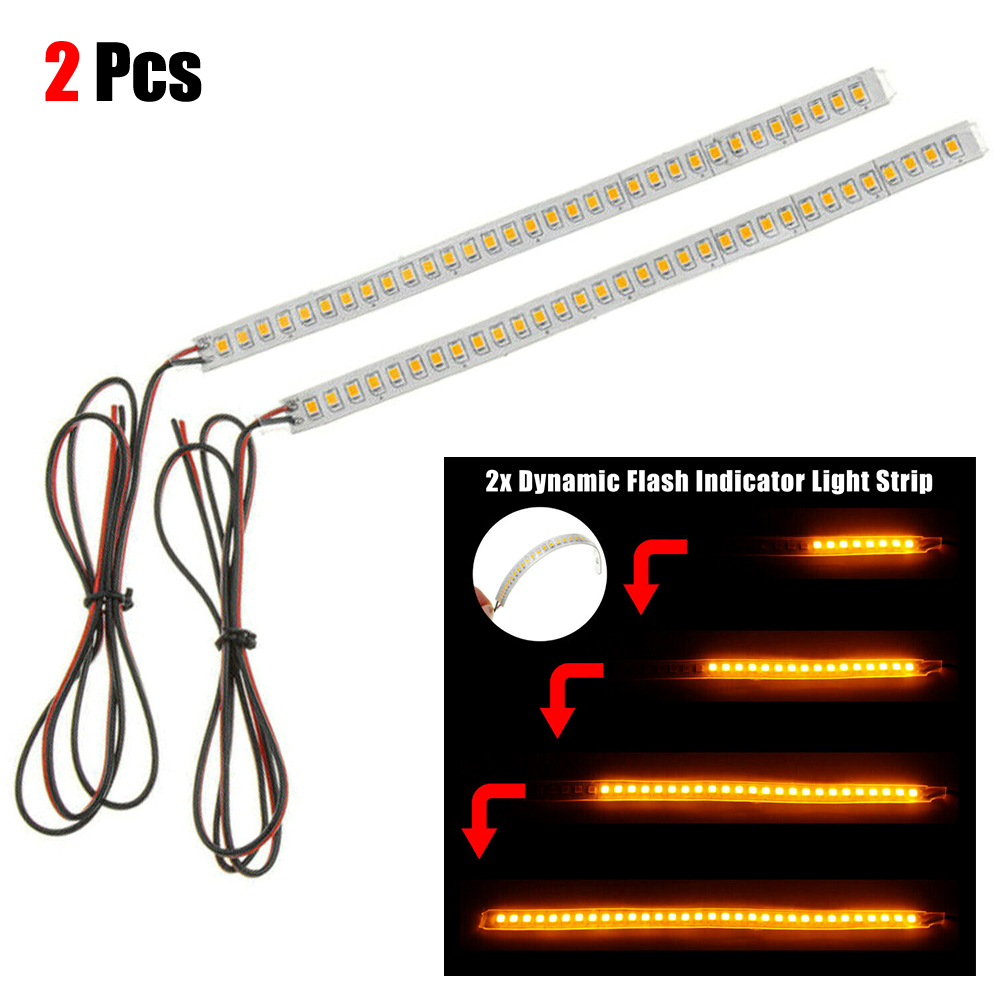 2pcs 12V 5W Auto Dynamic LED Rear Side Mirror Arrow Arrow Strip Set Truck Turn Signal Indicator Light Bar Auto Car Accessories
