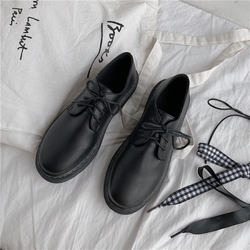 Classic Brand Shoes Women Casual Round Toe Black Oxford for Flats Comfortable Slip on Brogue
