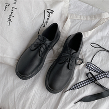 Classic Brand Shoes Women Casual Round Toe Black Oxford