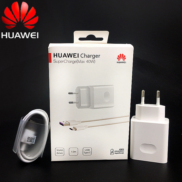 Huawei P40 Super charger 40W Original 10V/4A Charge adapter usb cable Huawei p20 p30 pro Mate 30x20 pro Honor Nova 5 6 7 Magic 2