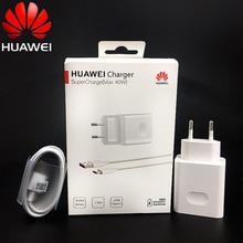Huawei p40 super carregador 40w original, cabo adaptador de carga usb 10v/4a, huawei p20 p30 pro mate 30x20 pro honor nova 5 6 7 magic 2
