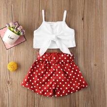 Emmababy одежда для маленьких девочек летние однотонные укороченные