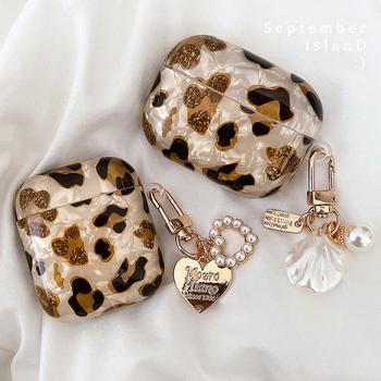 Luksusowe etui z lamparta perła dla Apple Airpods 1 2 3 etui bransoletka obudowa na łańcuszek dla AirPods Pro Case akcesoria do słuchawek Bluetooth tanie i dobre opinie NoEnName_Null CN (pochodzenie) Etui na słuchawki For APPLE Airpods
