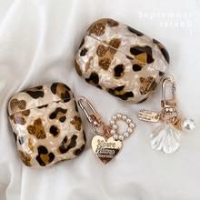 Léopard de luxe Perle pour Apple Airpods 1 2 3 Cas Bracelet Chaîne pour AirPods Pro Bluetooth Écouteur Accessoires
