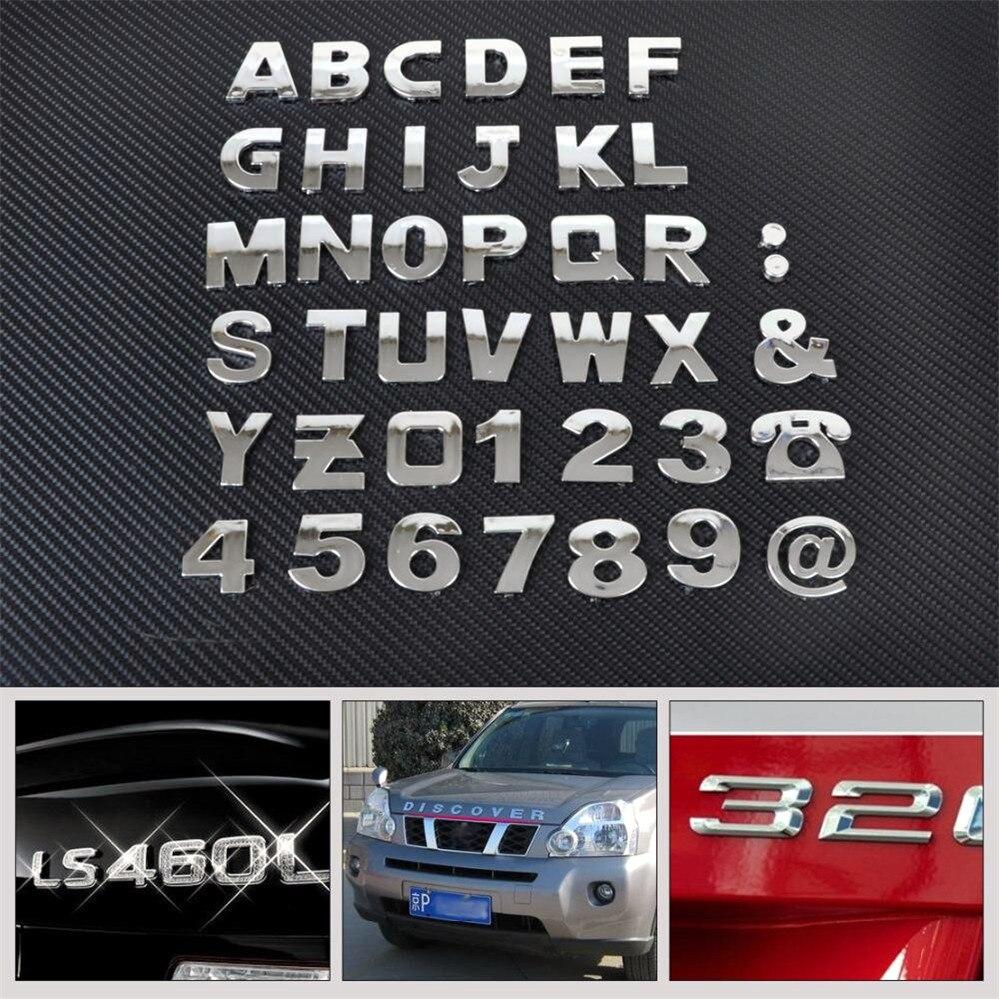 Car Auto Diy Letter Alphabet Number Stickers Logo For Ferrari 488 Sp38 Portofino Fxx K 812 Laferrari J50 Car Stickers Aliexpress