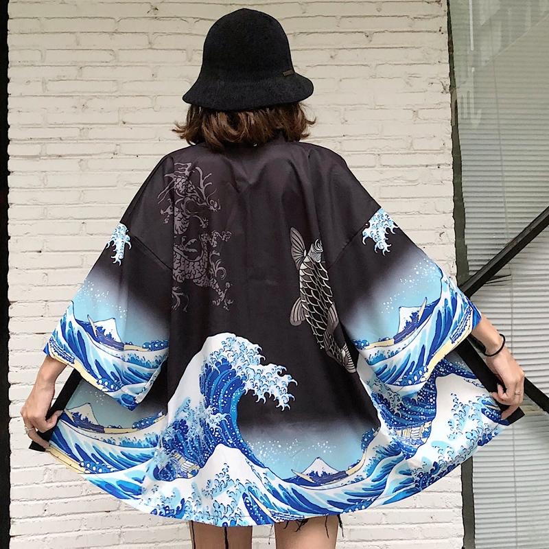 Womens tops and blouses 2020 harajuku kawaii shirt Japanese streetwear outfit kimono cardigan female yukata blouse women  AA001