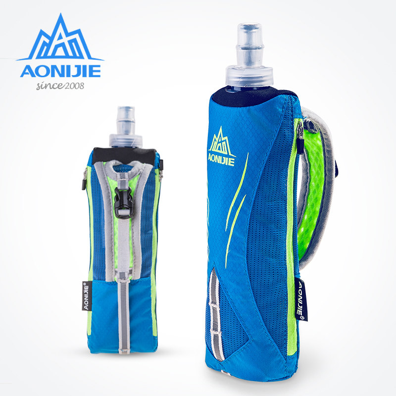 AONIJIE Sport Kettle Pack Hand-held Bag Waterproof Hydration Packs For Marathon Trail Running Jogging With Soft Water Flask E908