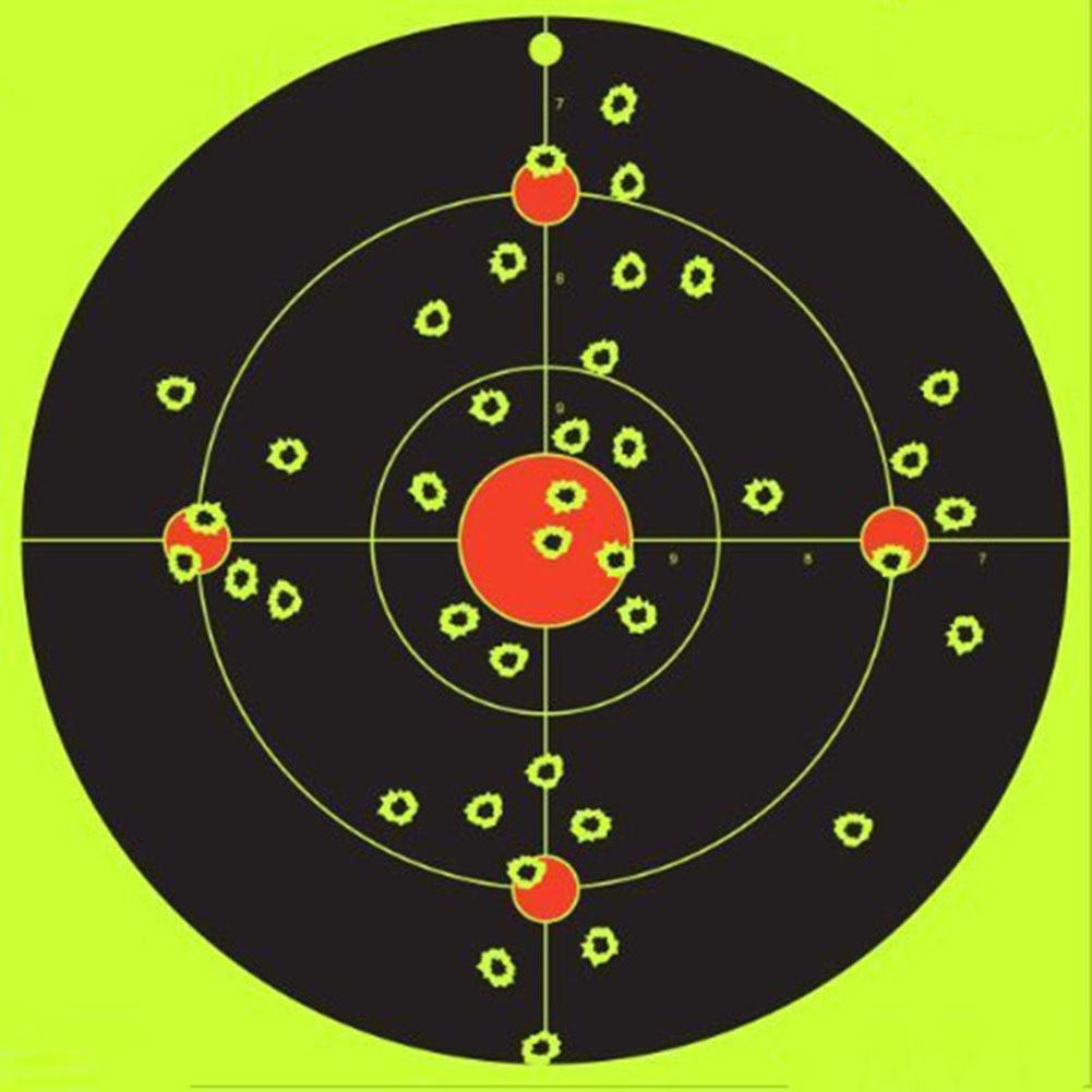 10/100Pcs Sheets 2inch Adhesive Shooting Targets Paper Splatter Self Adhesive Sticker Shoot Multi-Bullseye Exercises Accessories