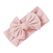 Newborn Headbands For Baby Girls Princess Solid Bowknot Headwrap Infant Babies Turban Hair Accessories(China)