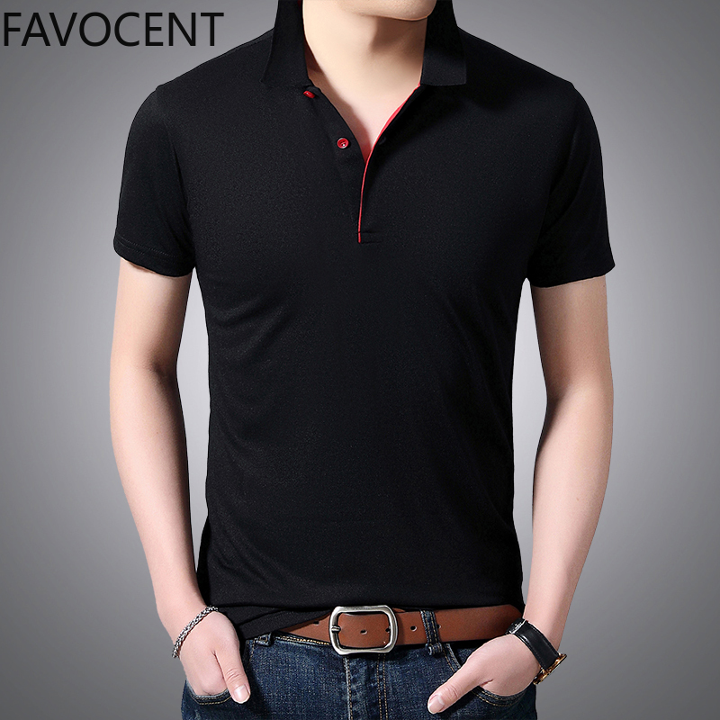 Polo Shirt Men Cotton Short Sleevet Polo Shirts Summmer Casual Solid Top Fanshion Slim Men Clothes Black Gery Male Polo Shirt