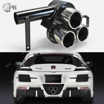 Бампер выхлопной отделкой для Honda CRZ 10,2-12,8 CR-Z ZF1 SBLK стиль металлический выхлопной задний наконечник тела комплект настройки для CRZ гоночной ч...