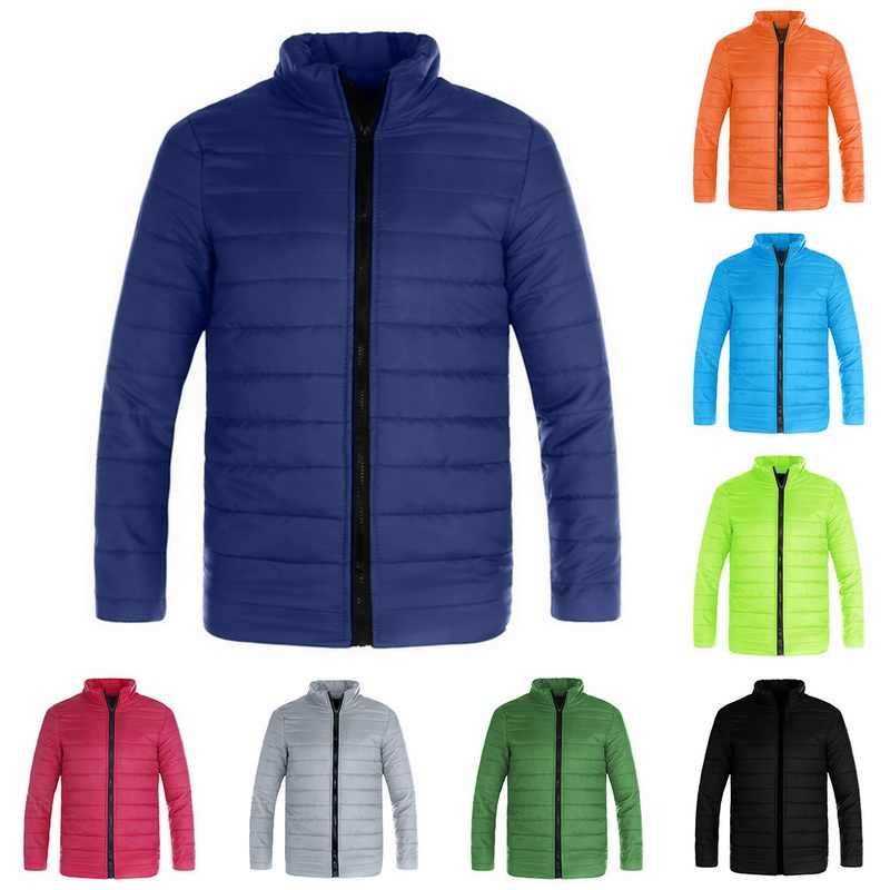 캔디 색상 남성 파카 후드 남성 파카 남성 2020 의류 및 코트 Fot 남성 면화 가을, 겨울 의류