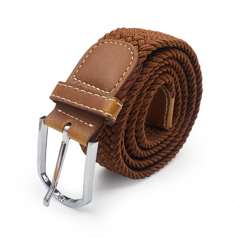 Men Elastic Stretch Waist Belt Black Canvas Stretch Braided Elastic Woven Leather Belt Wide Hot Metal Stretch Belt For Men Lahore