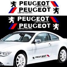 2pcs moda vinheta do corpo do carro decoração emblema do carro adesivo para Peugeot 107 108 206 207 308 307 508 2008 3008 estilo do carro Styling