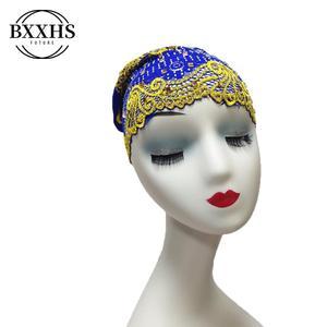 Новинка, Женский хиджаб, большие стразы, тюрбан, голова Кепка шапка, бини, женские аксессуары для волос, мусульманский шарф, шапка для выпаде...