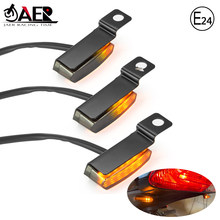 Paire clignotant moto indicateurs séquentiels ambre LED guidon clignotant 12V 2W clignotant pour Scooter ATV Motocross