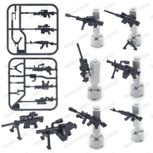 Weapons Building Blocks Military Figures Assembly Ordnance Model Mini Gun World War2 Army Equipment Moc Child Christmas Gift Toy