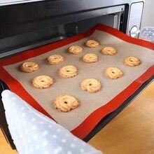 Tapete de cozimento de silicone para forno antiaderente placa de biscoito forno esteira prática e saudável suprimentos de cozinha ferramenta