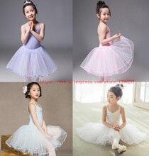 Bale dans elbise kızlar 2020 yeni günlük egzersiz yelek Leotard yüksek kaliteli pamuk bale Tutu çocuk beyaz dans eteği