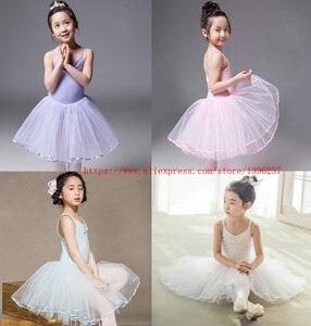 Image 1 - Robe de danse de Ballet pour filles, jupe de danse blanche, pour enfants, gilet, justaucorps, exercices quotidiens, haute qualité, Ballet en coton, nouveauté 2020