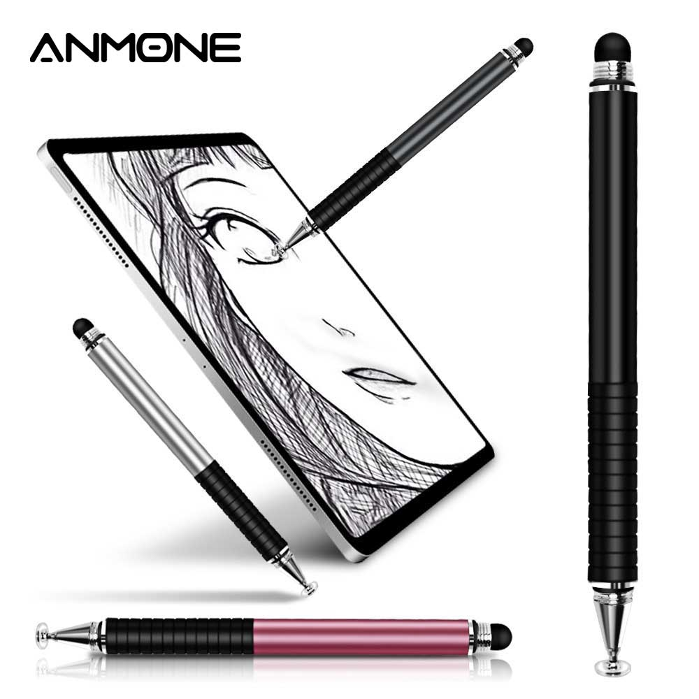 ANMONE Stylus Pen 2 In1 For Ipad Tablet Pens Drawing Pencil Capacitive Screen Touch Pen Stilus Smart Pen For Mobile Phone PC