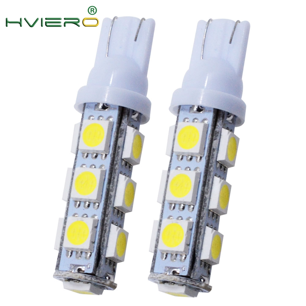 2Pcs White 5050 13LED 13 SMD Auto Auto Side Light Bulb Auto LED Wedge Lamp Turn Signal Parking Tail Backup Lights Dc 12V