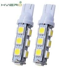 цена на High Quality 2X White T10 13 SMD 5050 13LED 13Smd 194 168 192 Auto Car Side Light Bulb 194 168 W5W LED Wedge Lamp 12V wholesale