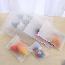 1PC Waterproof Scrub EVA Plastic Bag Translucent Zip Lock Seal Portable Suitcase Storage Pouch Cloth Organizer Accessory(China)
