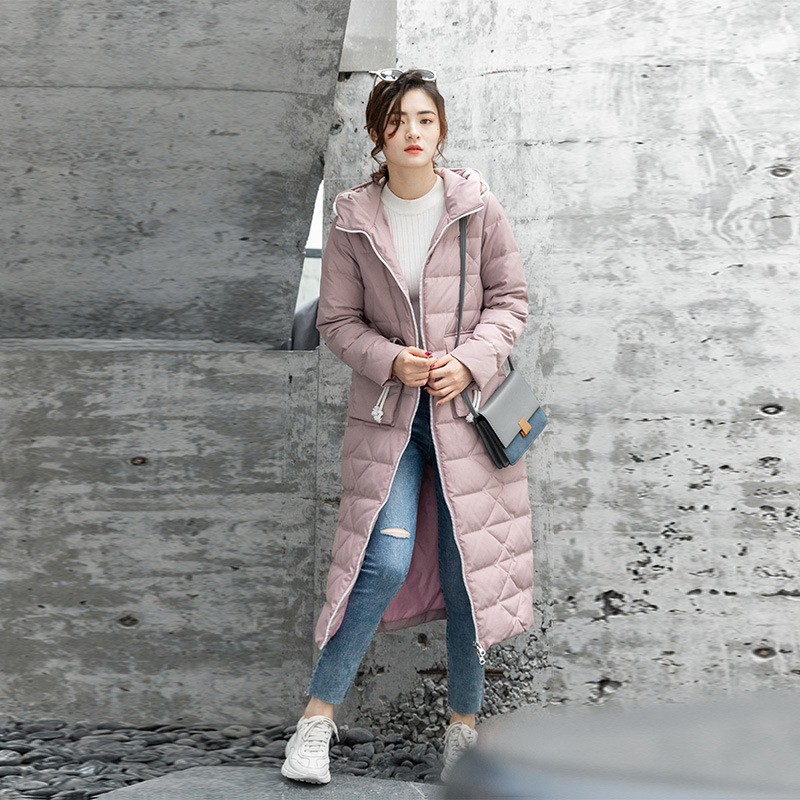 Winter Coat Women Korean 90% White Duck Down Jacket Women Down Coat Slim Puffer Jacket Parka Casaco 6822 YY1319